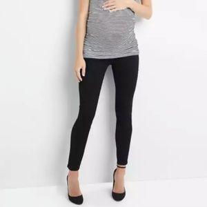 Gap Maternity Demi Panel True Skinny Black Jeans